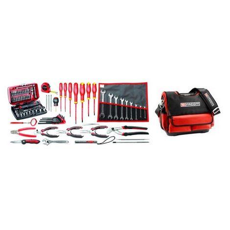 BST14.EM40A Sélection électromécanique 80 outils plus boîte à outils textile 974.93
