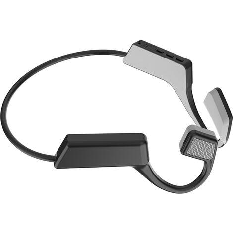 BT manos libres auricular inalambrico con Bluetooth 5.0 impermeable del deporte en la oreja, Negro