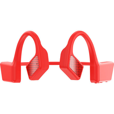 BT manos libres auricular inalambrico con Bluetooth 5.0 impermeable del deporte en la oreja roja
