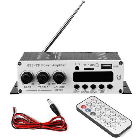 BT Motorrad Auto Computer Digital Player 2-Kanal-Leistungsverstarker FM-Radio Verlustfreier Musik Leistungsverstarker Digital Player,Schwarz