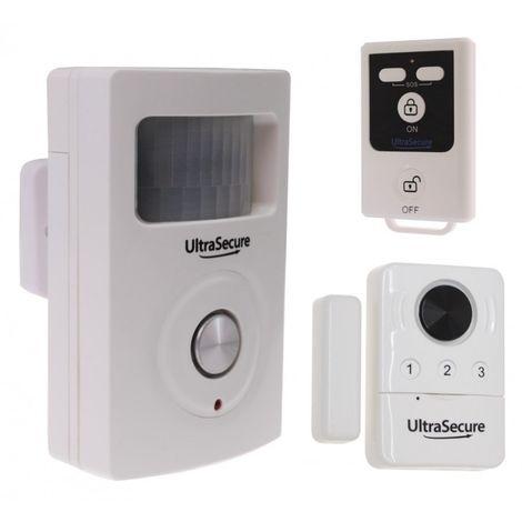 BT PIR & Door Contact Alarm (with 2 built in Sirens). [007-1440]