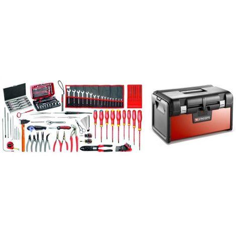 BT200.EM41A Sélection électromécanique 120 outils plus boîte à outils bi-matière