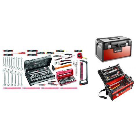 BT200.M100A Sélection maintenance industrielle 96 outils plus boîte à outils bi-matière 935.63