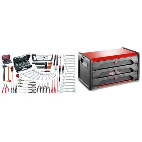 BT203.M120A Sélection maintenance industrielle 147 outils plus boîte à outils bi-matière 3 tiroirs 1640.29