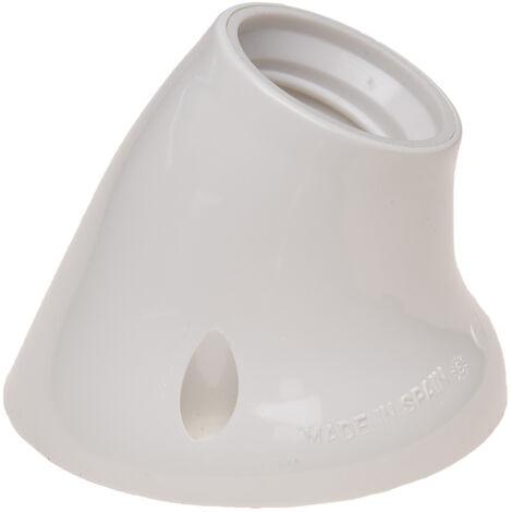 Portalámparas zócalo curvo E27 blanco (Solera BT6510) (Blíster)