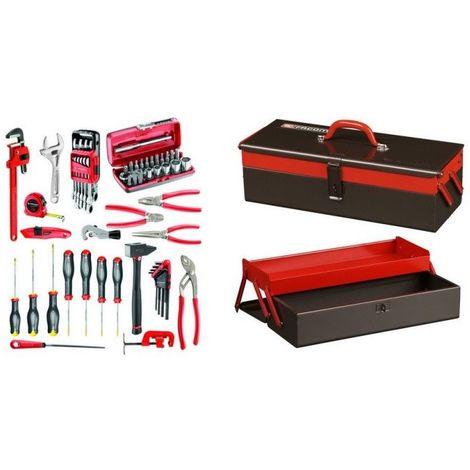BT6A.M200A Sélection plombier 67 outils plus boîte à outils métal 1084.40