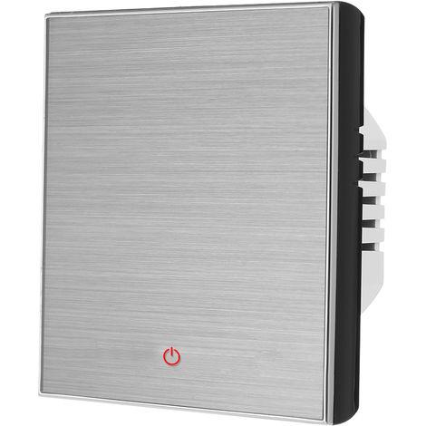 BTH-3000L-GB Calefaccion electrica Termostato Digital Controlador de temperatura, boton del tacto de control 16A AC 95-240V, Negro