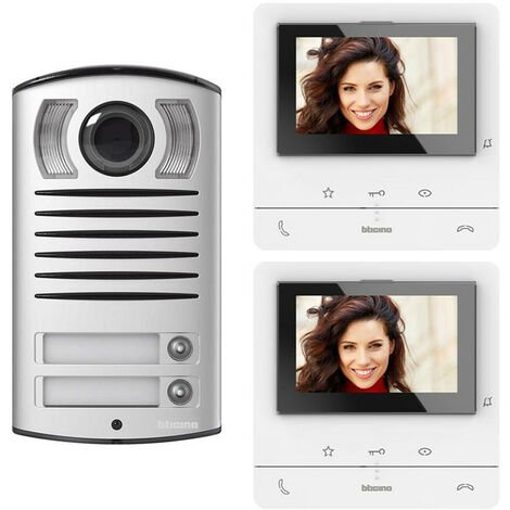 Bticino CLASSE100 V16B Kit vidéophone bidirectionnel à 2 fils 364622