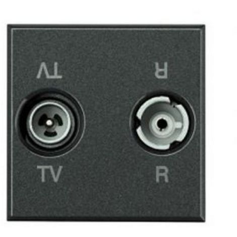 Bticino COFREL 23673 - TV-Anschluss - FM 2 Module - KOHLE