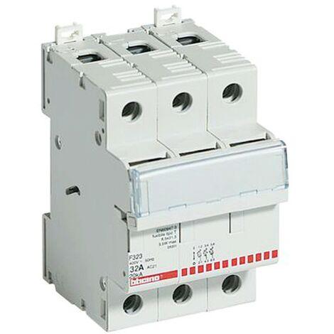 Bticino interruptor-Seccionador de fusibles titular 3P 32A 500V 3 unidades F323