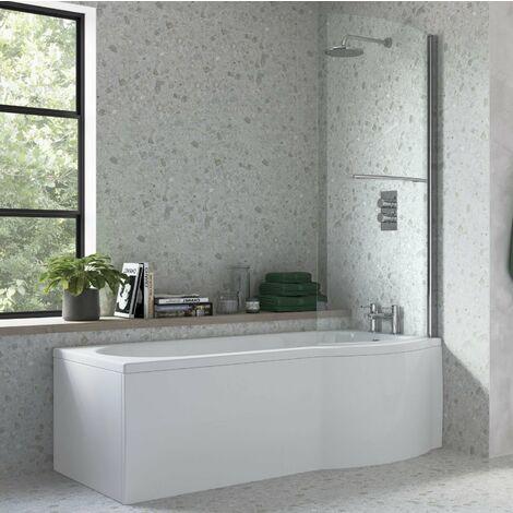 BTL 1675 x 850 Supercast Acrylic Right Hand P Shape Shower Bath Pack