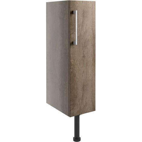BTL Alba 200mm Full Height Toilet Roll Holder - Grey Nebraska Oak