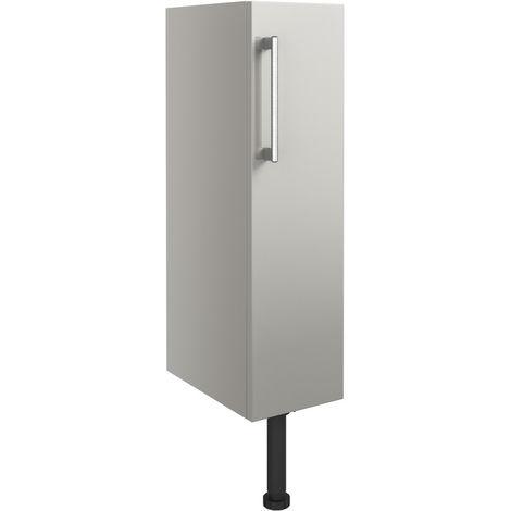 BTL Alba 200mm Full Height Toilet Roll Holder - Light Grey Gloss