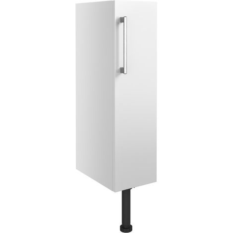 BTL Alba 200mm Full Height Toilet Roll Holder - White Gloss