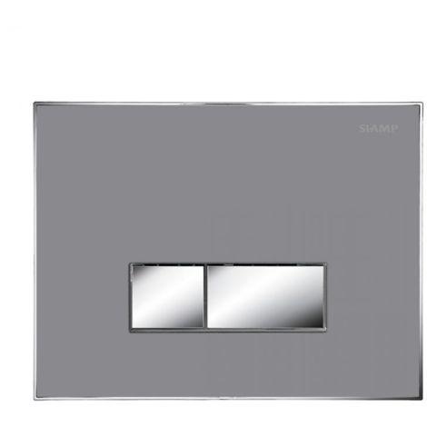 BTL Album Flush Plate - Flat Concrete, Square Buttons