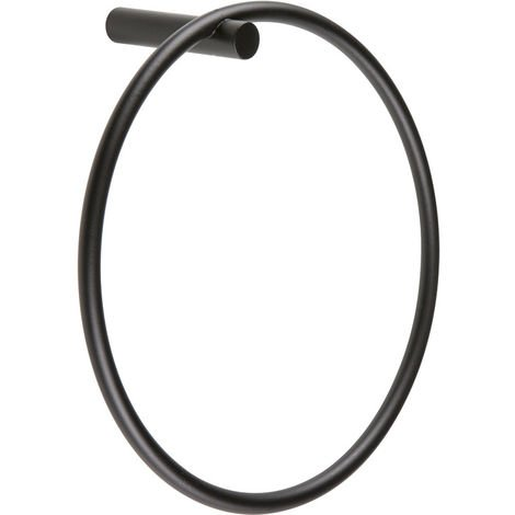 BTL Bertini Round Towel Ring Black