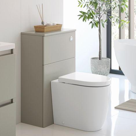 BTL Carino 600mm Floor Standing WC Toilet Unit Latte