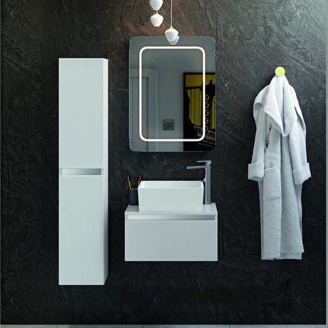 BTL Carino 600mm Wall Hung Vanity Unit In White Gloss No Top