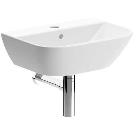 BTL Cedarwood 1TH Cloakroom Basin & Bottle Trap 320 x 450 x 170mm White