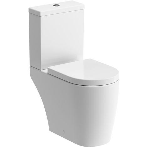 BTL Cilantro Coupled Close Rimless Toilet and Soft Close Seat