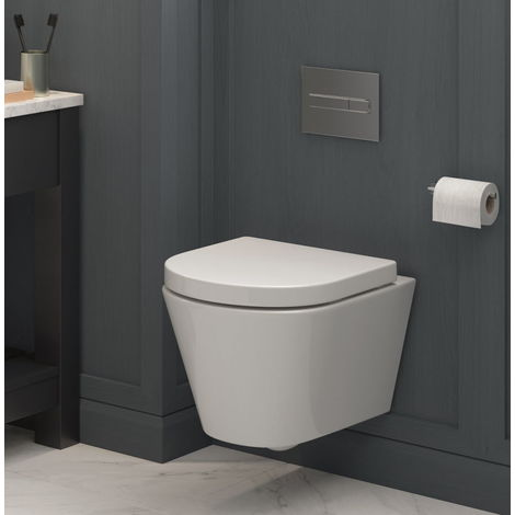 BTL Cilantro Rimless Wall Mounted WC and Soft Close Seat