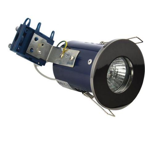BTL Firerated Shower Downlight Black Chrome