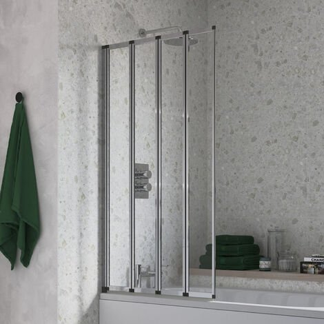 BTL Framed Four Fold Bath Screen