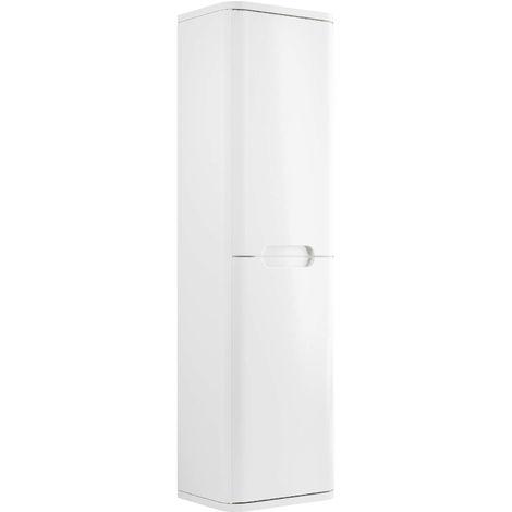 BTL Lambra 350mm 2 Door Wall Hung Tall Unit - White Gloss