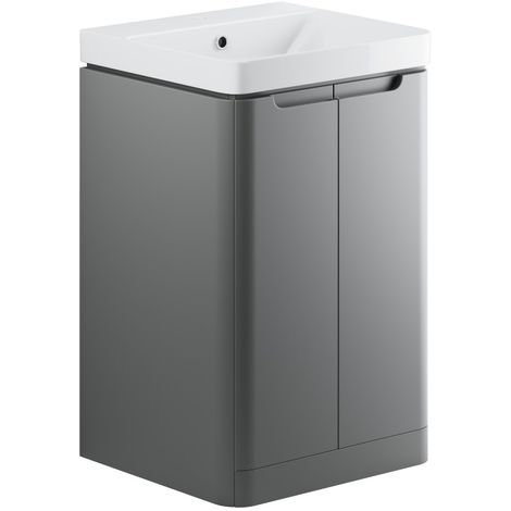 BTL Lambra 500mm Floor Standing Vanity Unit with Basin in Grey