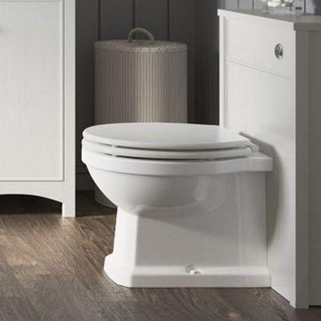 BTL Lucia 510mm WC Toilet Unit Satin White Ash