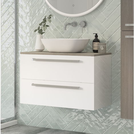 BTL Morina Wall Hung Vanity Unit 800 White Gloss - No Worktop