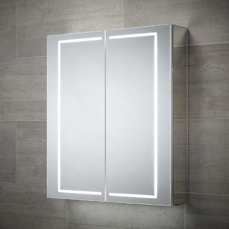 BTL Pegasus 600x700mm 2 Door LED Mirrored Cabinet