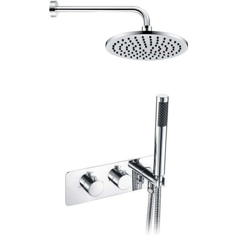 BTL Round Shower Pack 5 Lexi Twin Two Outlet With Handset