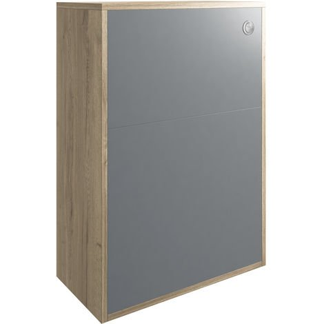 BTL Senzo 600mm WC Unit Natural Halifax Oak/Matt Grey