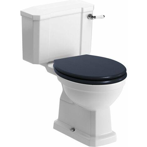 BTL Sherbourne Coupled Close WC and Indigo Ash Soft Close Toilet Seat