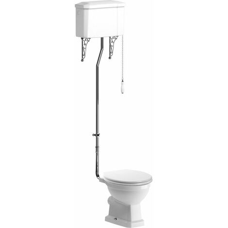 BTL Sherbourne High Level WC and Soft Close Seat Satin White