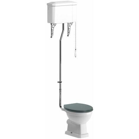 BTL Sherbourne High Level WC and Soft Close Seat Sea Green