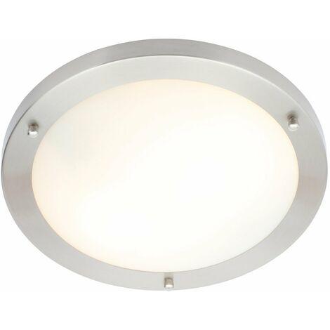 BTL Sigma Large Flush Ceiling Light (Bulb) Chrome