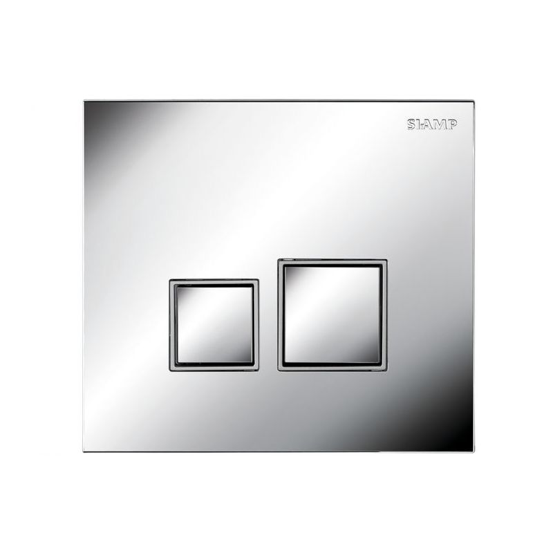 Image of BTL Square- Bright Chrome, Square Buttons