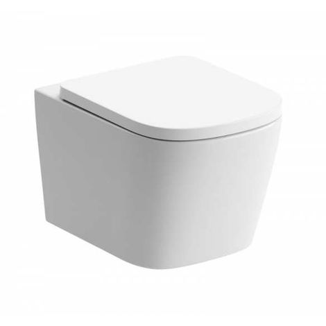 BTL Tilia Rimless Compact Wall Mounted Toilet pan and Soft Close Seat