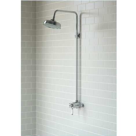 BTL Traditional Concentric Thermostatic Valve and Overhead Shower Kit