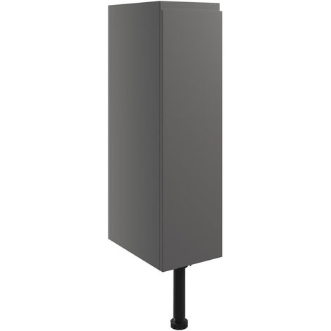 BTL Valesso 200mm Toilet Roll Holder - Onyx Grey Gloss
