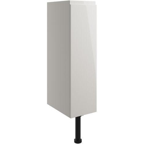 BTL Valesso 200mm Toilet Roll Holder - Pearl Grey Gloss