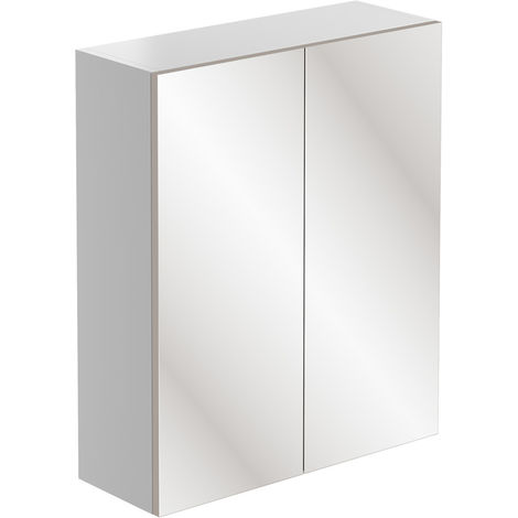BTL Valesso 600mm Mirrored Unit - White Gloss