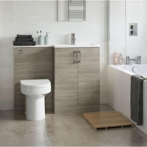 BTL Volta 1100mm Nordic wood Floor Standing Basin and Toilet Unit RH
