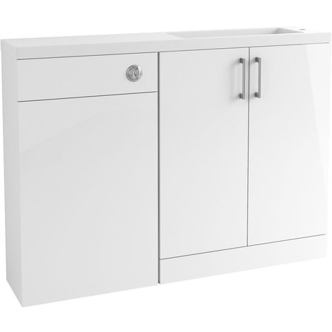 BTL Volta 1207mm White Gloss Slim Depth Basin and Toilet Pack