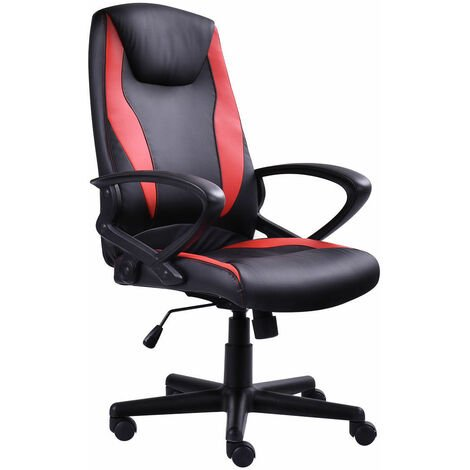 Btm Sports Racing Chair Gaming Swivel Pu Computer Office Chair
