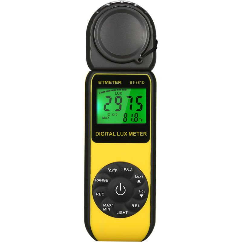 Image of BTMETER BT-881D Digital Lux Meter Handheld Luxmeter Lux/FC Luminometer