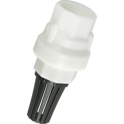 "BUCCHI 0200720.030505 - Válvula de retención en resina acetal FF con filtro negro 3/4"""