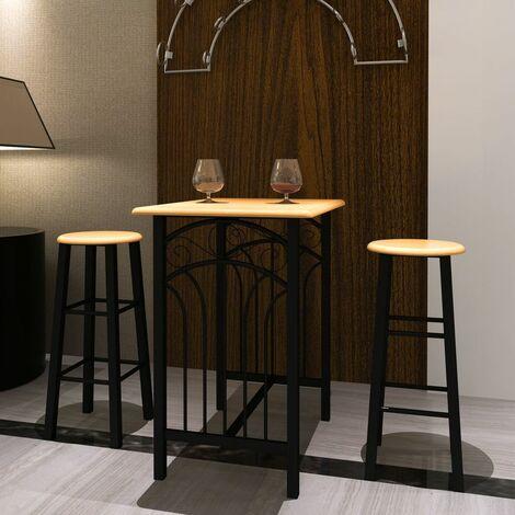Buche BARSET 2x Barhocker Stühle Stehtisch Bartisch DDH08025